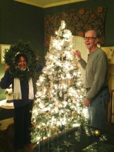 Larry and Brenda decorating